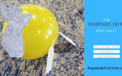 Crafty Thursday-Triumphant Entry Donkey Balloon