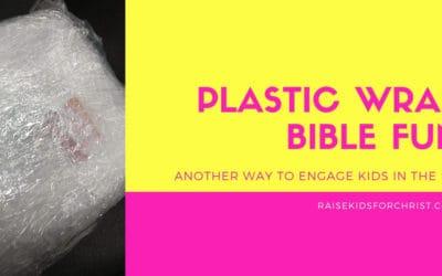 Plastic Wrap Bible Fun