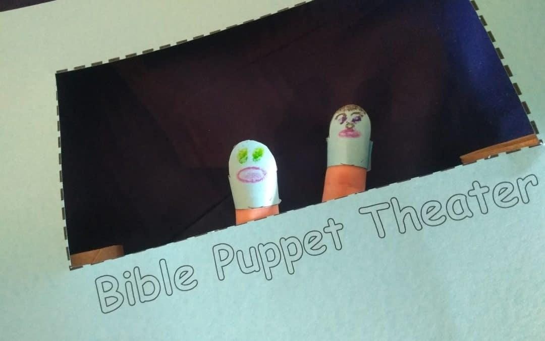 DIY Finger Puppet Bible Theater for Kids