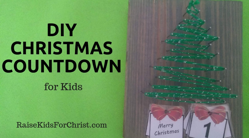 DIY Christmas Countdown Party Craft