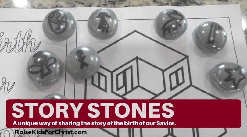 Birth of a Savior Story Stones