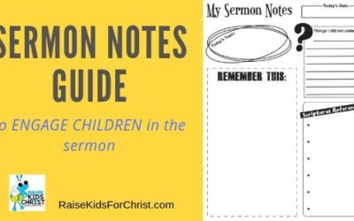 Sermon Notes Pages to Engage Children in the Pulpit Lesson